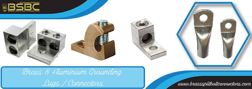 Brass & Aluminium Grounding Lugs / Connectors
