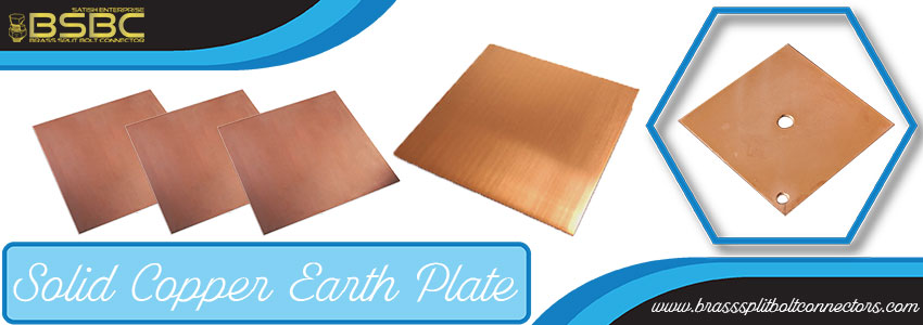 Solid Copper Earth Plate